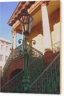 The Old City Market In Charleston Sc Wood Print by Susanne Van Hulst