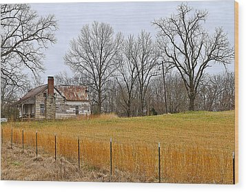 Wood Print featuring the photograph The Old Country Home by Ron Dubin