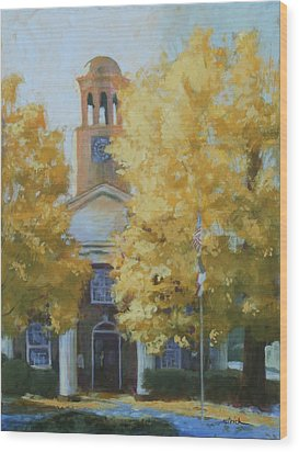 The Old Courthouse, 9am Wood Print by Carol Strickland