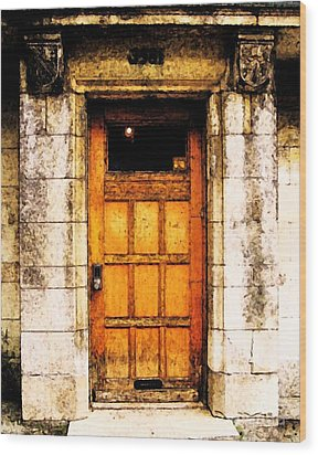 The Old Door Wood Print by Reb Frost