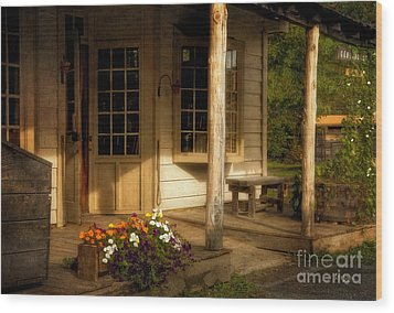 The Old General Store Wood Print by Lois Bryan