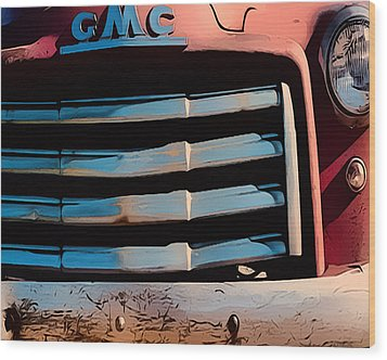 The Old Gmc At Pilar Wood Print