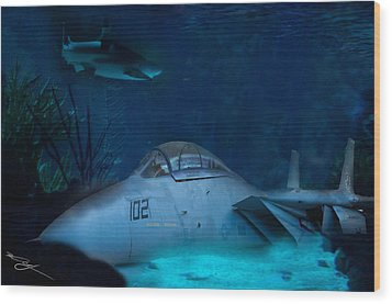 The Old Guard For The Tomcat Wood Print by Mark Vizcarra