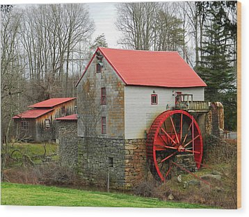 The Old Guilford Mill Wood Print