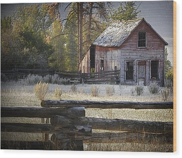 The Old Homestead Near Merritt Wood Print