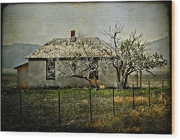 The Old House Wood Print by Jill Smith