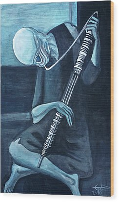 The Old Kloonhornist Wood Print by Tom Carlton