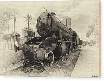 The Old Locomotive Wood Print