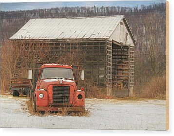 Wood Print featuring the photograph The Old Lumber Truck by Lori Deiter