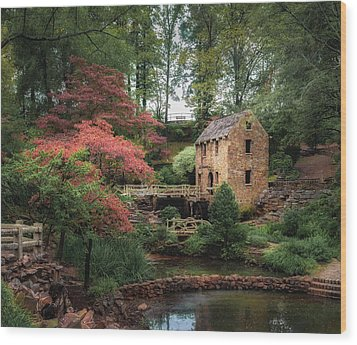 The Old Mill 5x6 Wood Print by James Barber