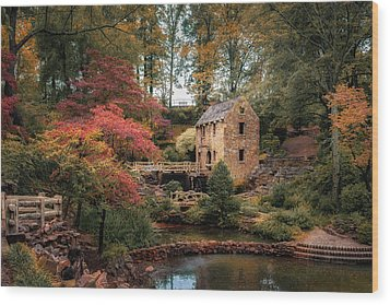The Old Mill Wood Print by James Barber