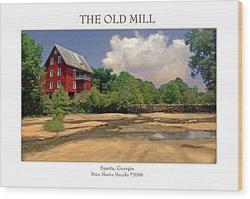 The Old Mill Wood Print by Peter Muzyka