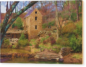 The Old Mill Wood Print by Renee Skiba