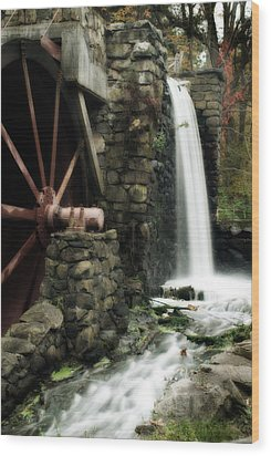 The Old Mill Wood Print by Renee Hong