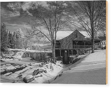 The Old Mill - Weston, Vermont Wood Print