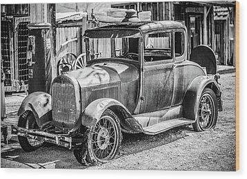 The Old Model Wood Print by Marius Sipa