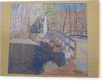 The Old North Bridge In Concord Ma Wood Print by William Demboski