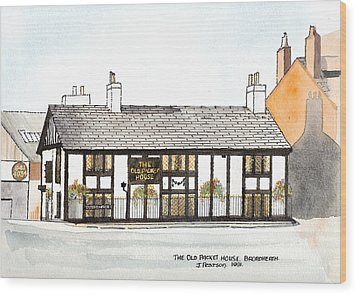 The Old Packet House Wood Print by Max Blinkhorn