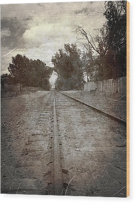 The Old Railroad Tracks Wood Print by Glenn McCarthy Art and Photography