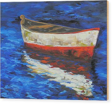 The Old Red Boat II  Wood Print by Torrie Smiley