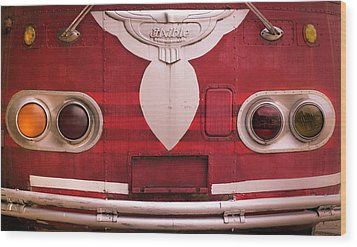 Wood Print featuring the photograph The Old Red Bus by Heidi Hermes