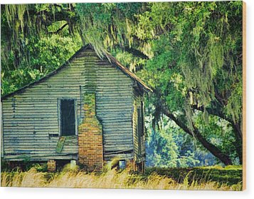 Wood Print featuring the photograph The Old Slaves Quarters by Jan Amiss Photography
