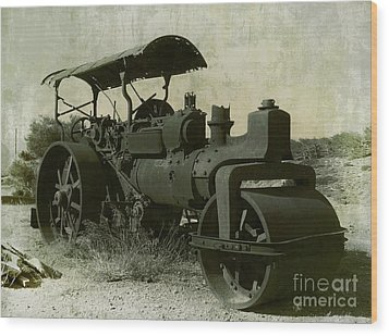 The Old Steam Roller Wood Print by Christo Christov