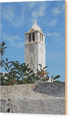 The Old Tower Wood Print by Armand Hebert