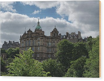 Wood Print featuring the photograph The Old Town In Edinburgh by Jeremy Lavender Photography