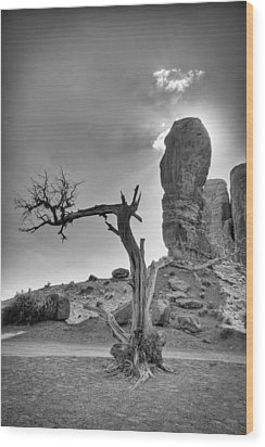 The Old Tree Wood Print by Andreas Freund