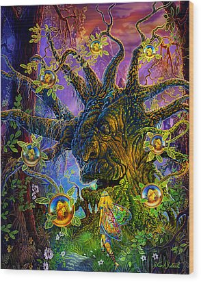 The Old Tree Of Dreams Wood Print