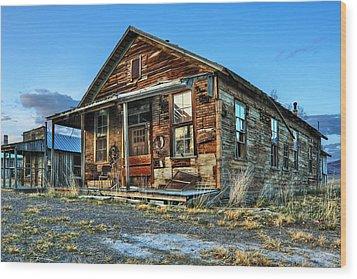 The Old Wendel General Store Wood Print by James Eddy