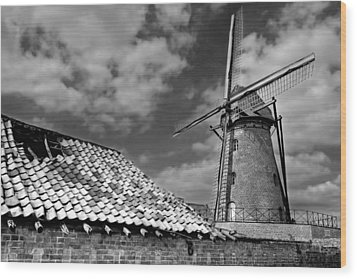 The Old Windmill Wood Print by Jeremy Lavender Photography