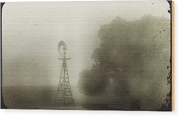 The Old Windmill Wood Print by Jill Smith