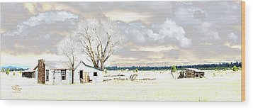 The Old Winter Homestead Wood Print