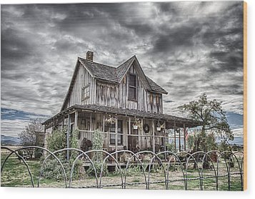 The Old Wood House Rogue Valley Oregon Wood Print