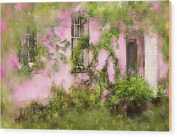 The Olde Pink House In Savannah Georgia Wood Print