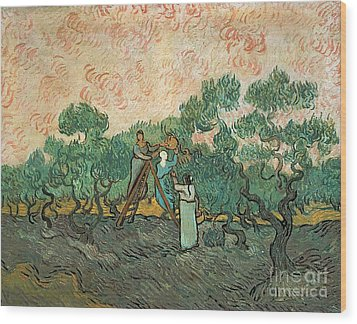 The Olive Pickers Wood Print