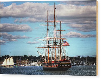 Wood Print featuring the photograph Tall Ship The Oliver Hazard Perry by Tom Prendergast