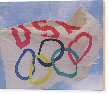 The Olympic Flag Wood Print
