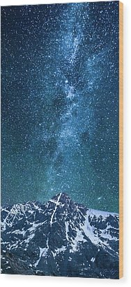 Wood Print featuring the photograph The One Who Holds The Stars by Aaron Spong