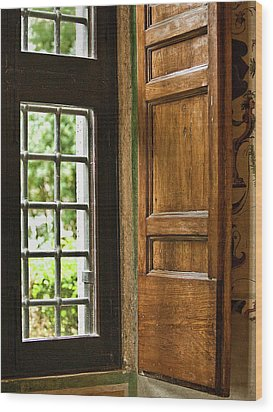 The Open Window Wood Print by Lynn Andrews