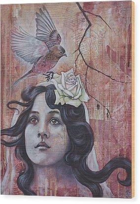 The Oracle Wood Print by Sheri Howe