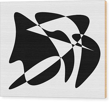 The Orator Wood Print by David Bridburg
