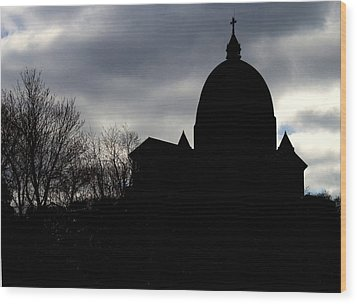 The Oratory - Silhouette Wood Print