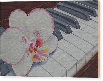 The Orchids Song Wood Print
