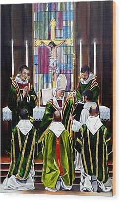 The Ordination Wood Print