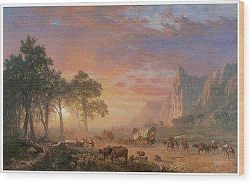 The Oregon Trail Wood Print by Albert Bierstadt