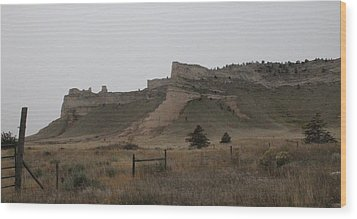 Wood Print featuring the photograph The Oregon Trail Scotts Bluff Nebraska by Christopher Kirby