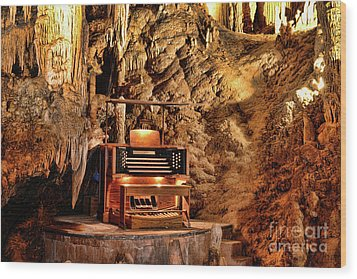 Wood Print featuring the photograph The Organ In Luray Caverns by Paul Ward